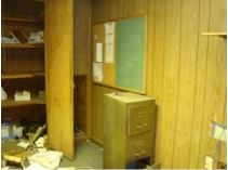 Before office space at remodel project